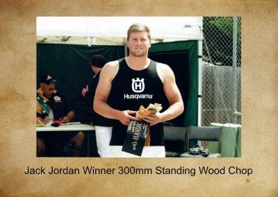 2018 Winner For Wood Chopping Jack Jordan